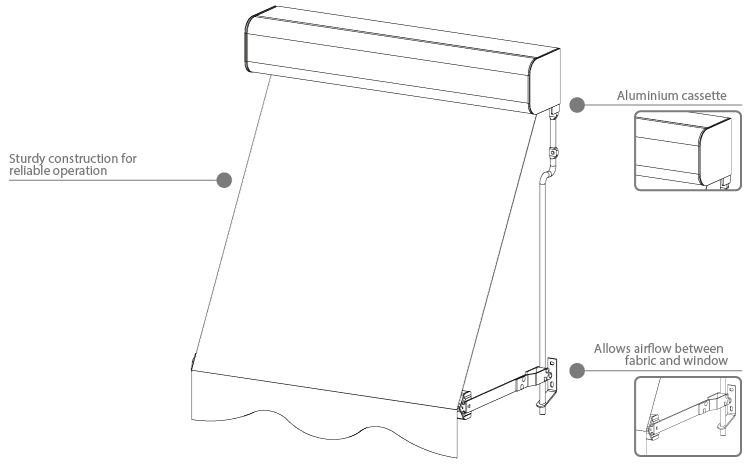 auto awning diagram