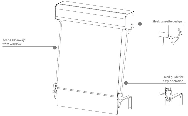 fixed guide awning diagram